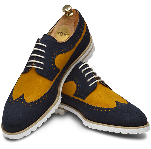 The Recreation Navy Blue and Light Tan