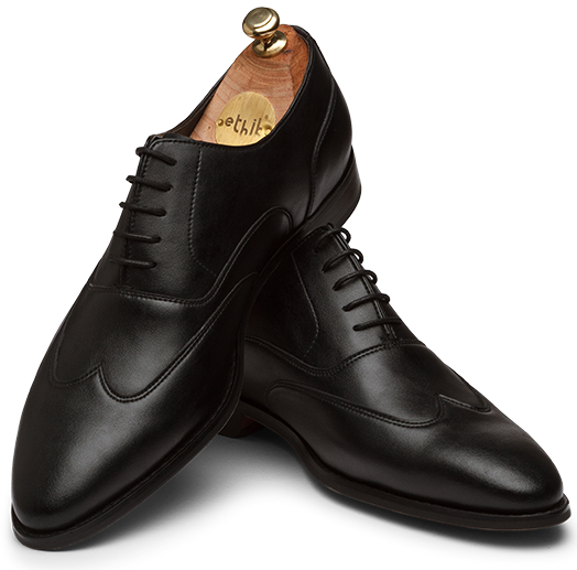 Fausto Black Men Formal Oxform Shoes
