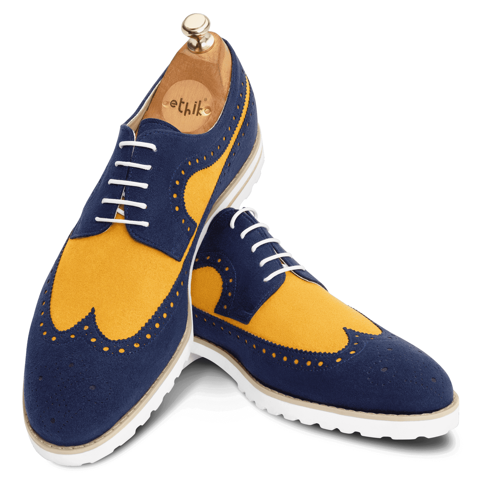 The Recreation - Navy Blue and Light Tan